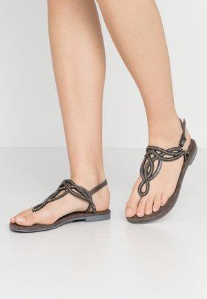 T-bar sandals - black metallic