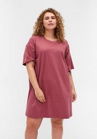 Zizzi - Basic T-shirt - deco rose - 0