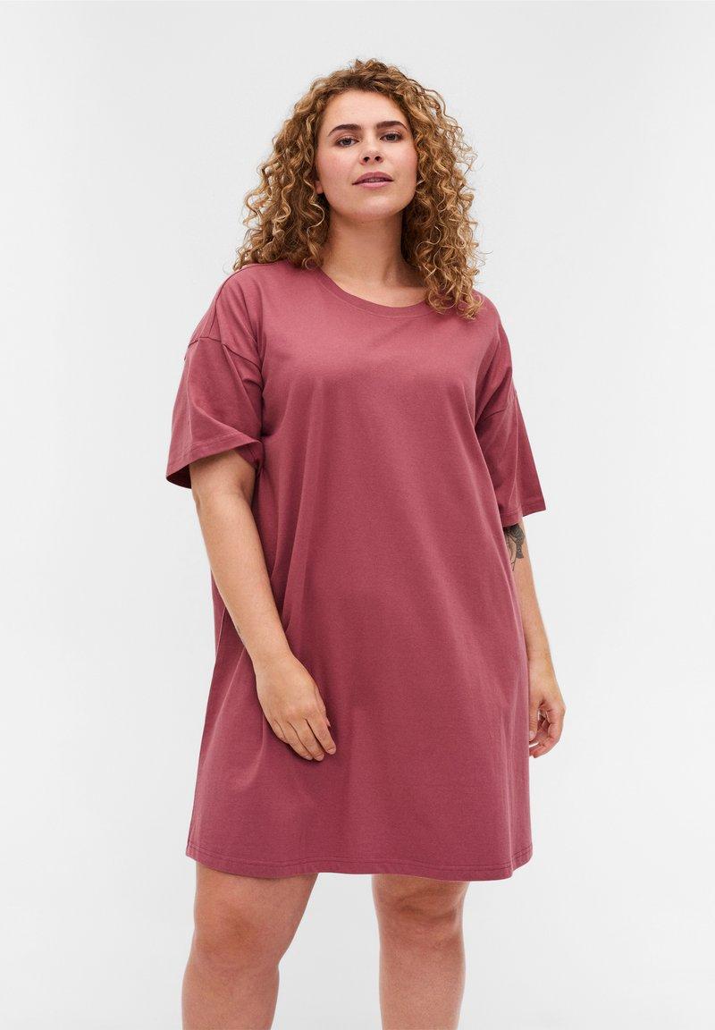 Zizzi - Basic T-shirt - deco rose