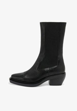 DONNA - Vysoká obuv - black