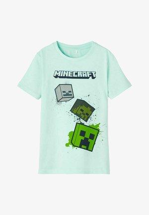MINECRAFT - Print T-shirt - blue tint
