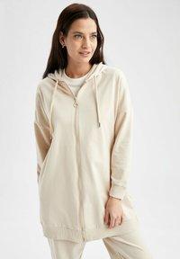 DeFacto - Zip-up sweatshirt - beige - 0