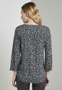 TOM TAILOR - Blouse - black and white - 2