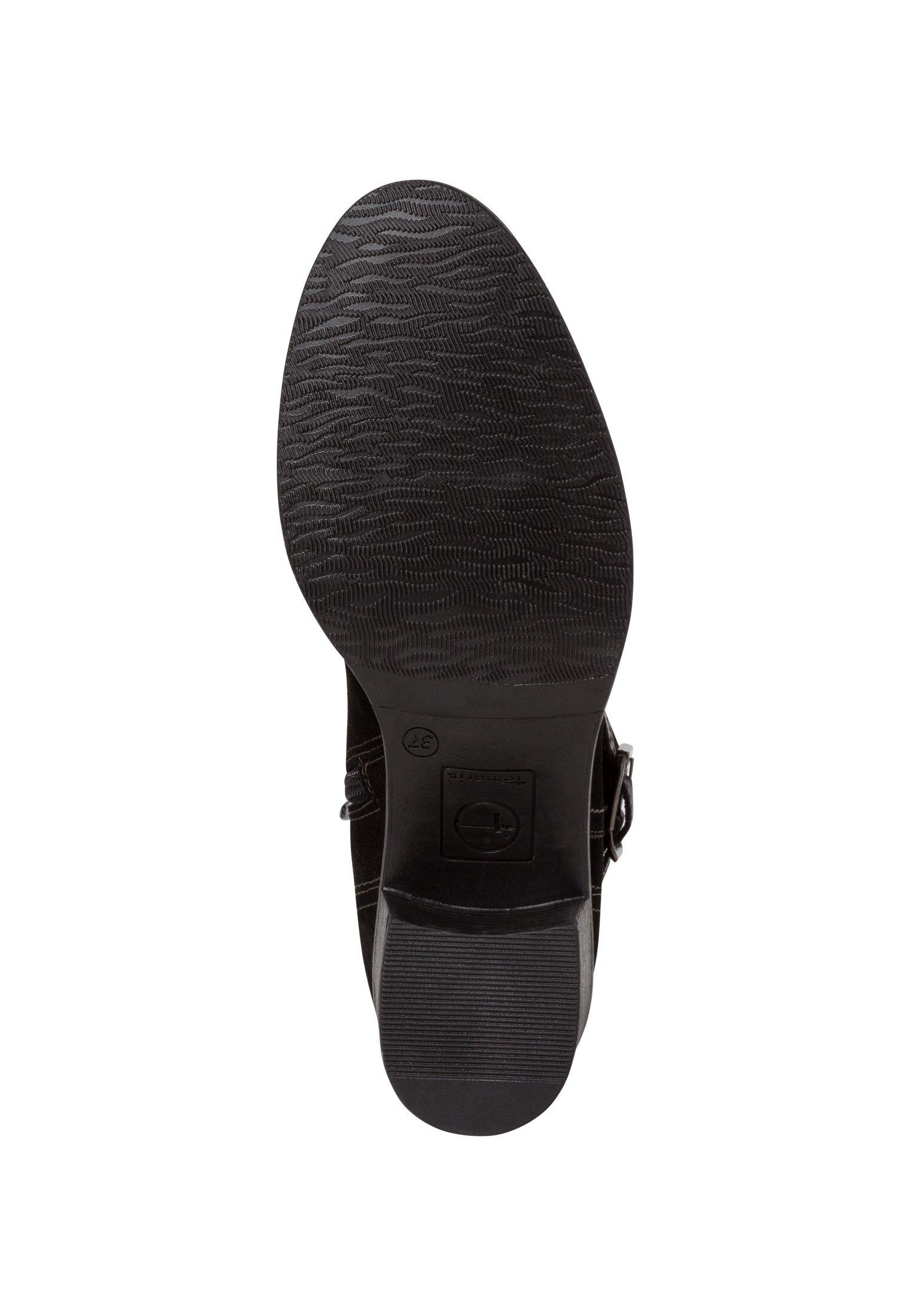 Tamaris Ankle Boot black suede/schwarz meliert