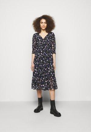DRESS - Day dress - black/purple