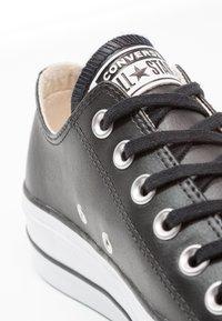 Converse - CHUCK TAYLOR ALL STAR LIFT CLEAN - Baskets basses - black/white - 2