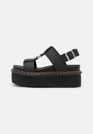 FRANCIS - Platform sandals - black hydro