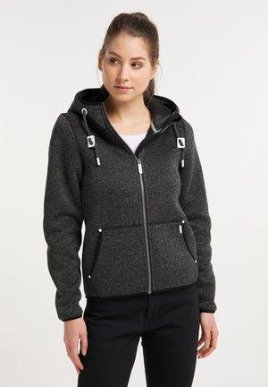 Fleece jacket - dunkelgrau melange