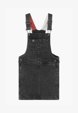 DUNGAREE - Denim dress - black denim