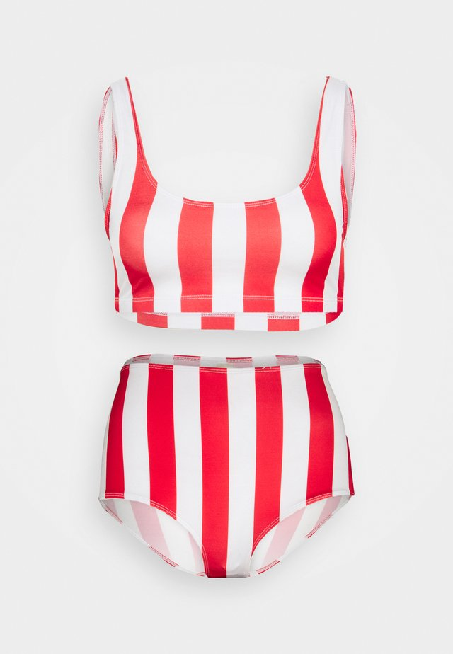 NILLA HIGHWAIST - Bikinibroekje - red medium