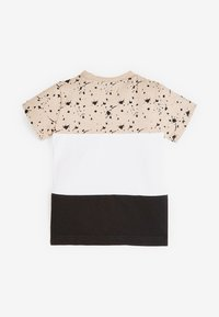 Next - COLOURBLOCK - Print T-shirt - tan - 1