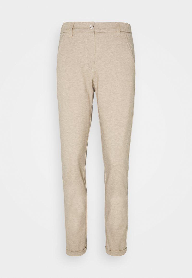 Opus - MELINA CITY - Trousers - creamy camel