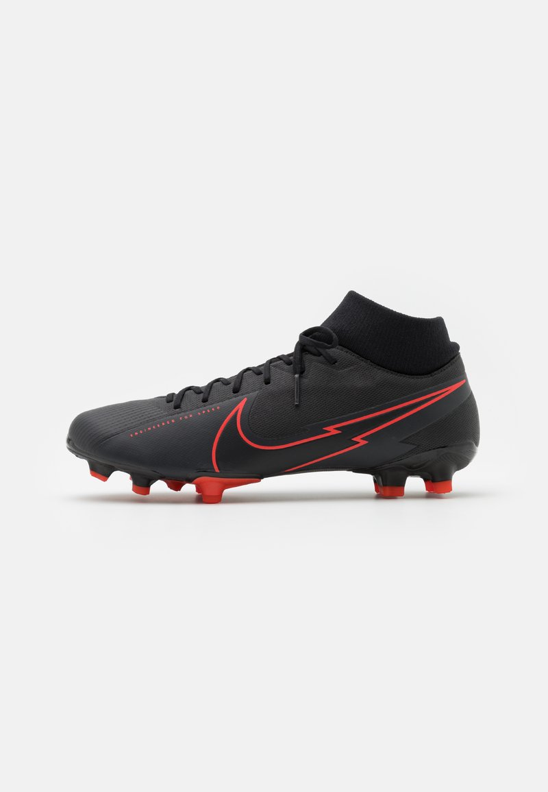 Nike Performance - MERCURIAL 7 ACADEMY FG/MG - Moulded stud football boots - black/dark smoke grey