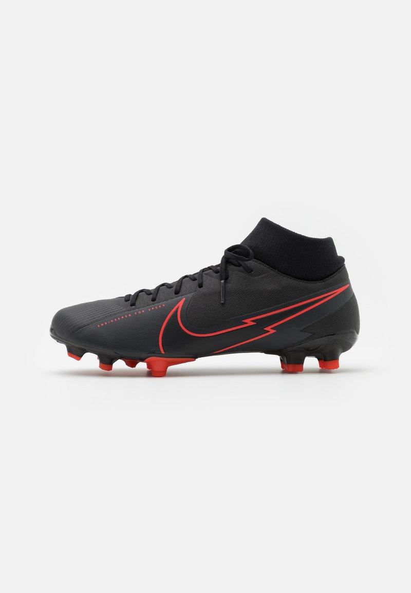 Nike Performance - MERCURIAL 7 ACADEMY FG/MG - Fußballschuh Nocken - black/dark smoke grey