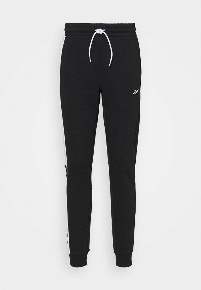 LINEAR LOGO PANT - Teplákové kalhoty - black
