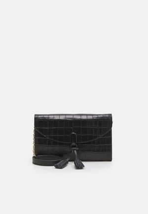 MINI SHOULDER BAG TASSEL - Across body bag - nero