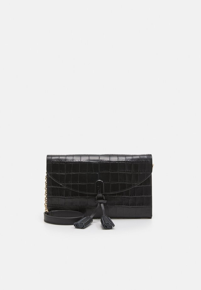 MINI SHOULDER BAG TASSEL - Umhängetasche - nero