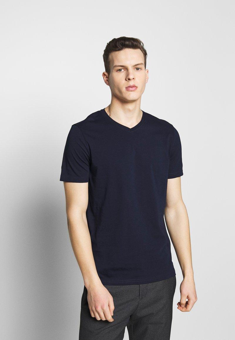 Benetton - BASIC VNECK - T-shirts basic - darkblue