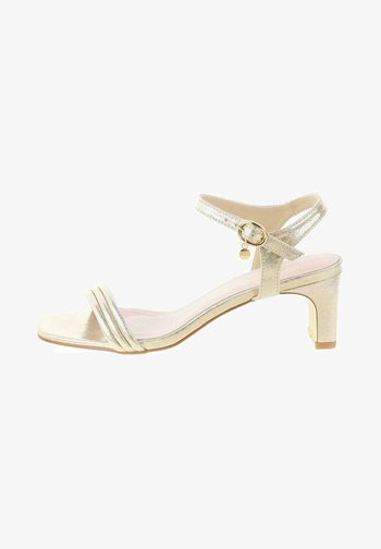 MAGLIE - Ankle cuff sandals - gold