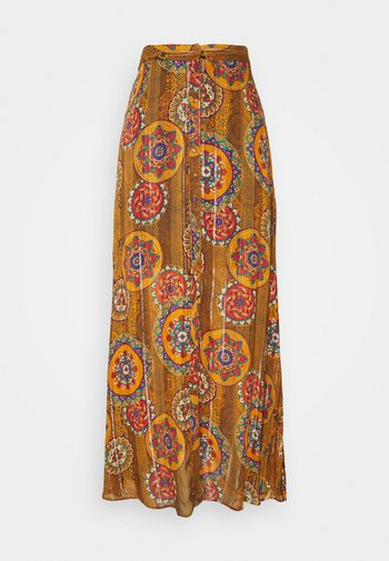 MELBOURNE - Maxi skirt - dijon