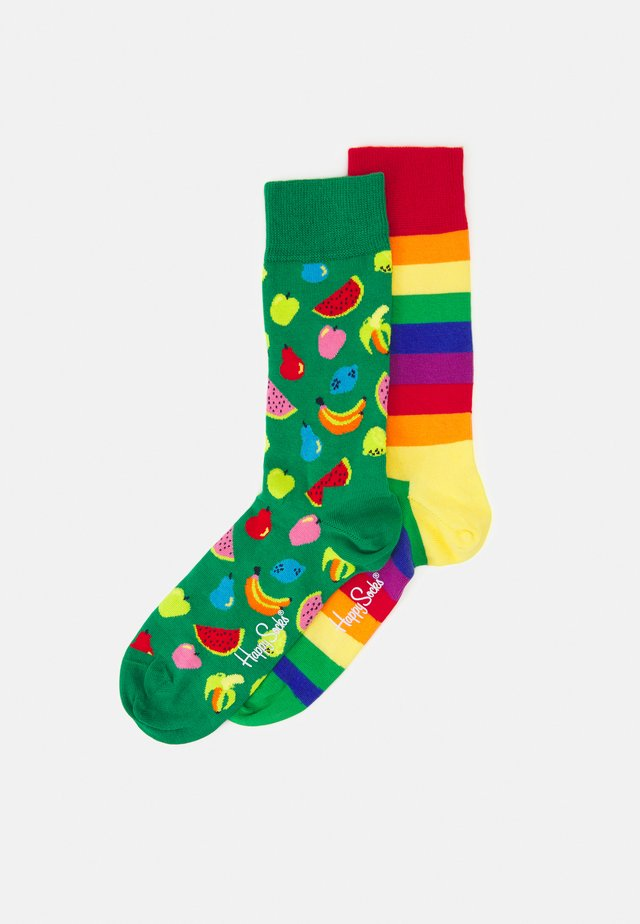FRUIT SOCK PRIDE STRIPE SOCK UNISEX 2 PACK - Sukat - multi-coloured