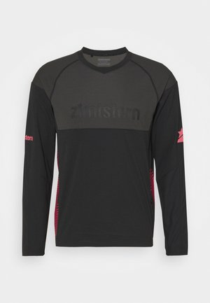 BULLETZ MENS - Long sleeved top - pirate black/gun metal/jester red