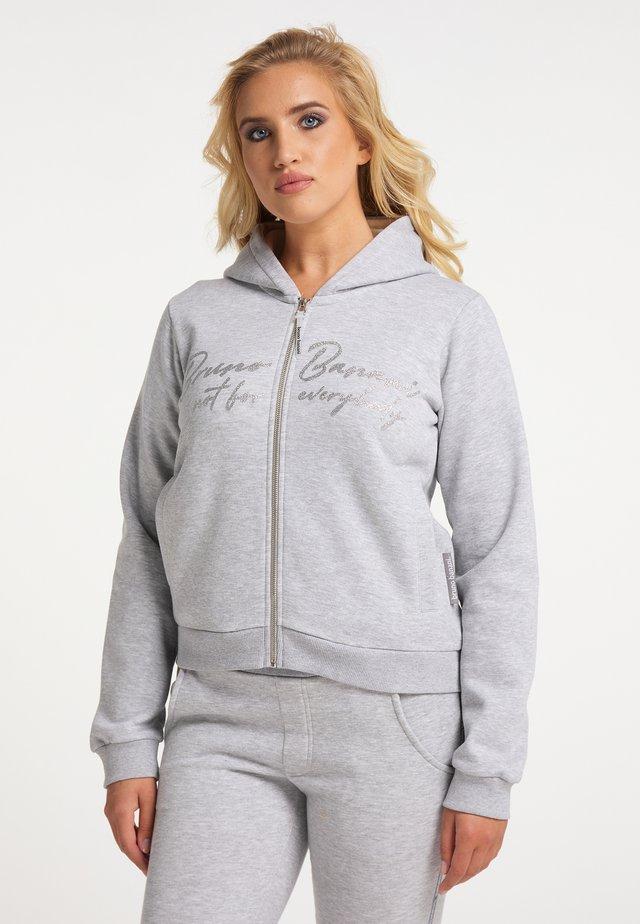 Sweater met rits - grau melange