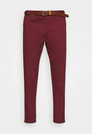 NEW BELTED  - Pantalones chinos - bordeaux