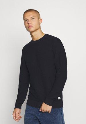 JJMARLOW STRUCTURE - Stickad tröja - navy blazer