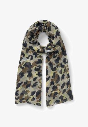 Scarf - khaki yellow camouflage design