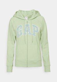 GAP - NOVELTY - Zip-up hoodie - smoke green - 0