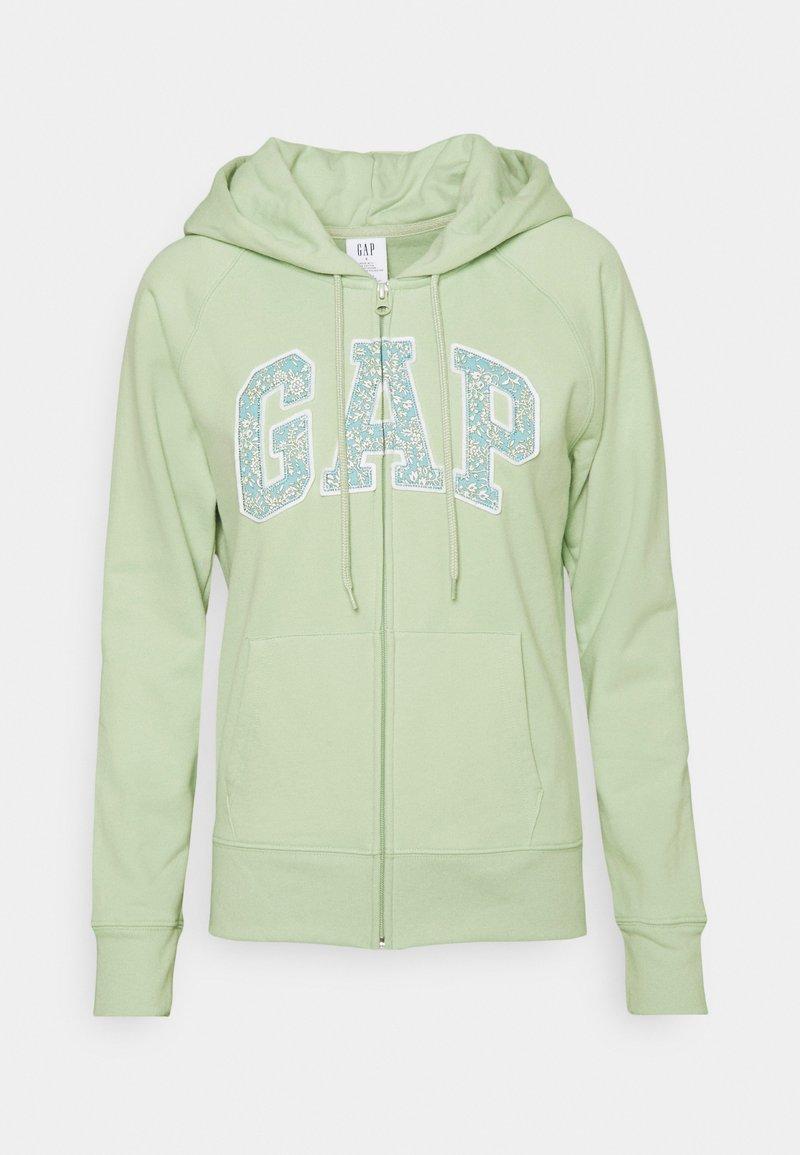 GAP - NOVELTY - Zip-up hoodie - smoke green