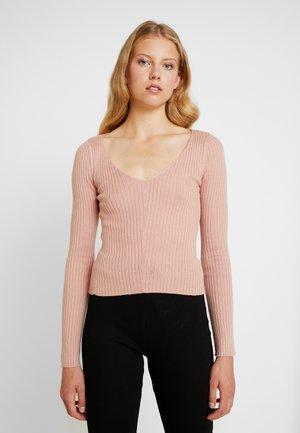 V-NECK CROPPED - Jersey de punto - blush