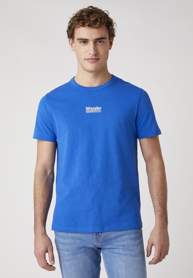 T-shirt con stampa - wrangler blue