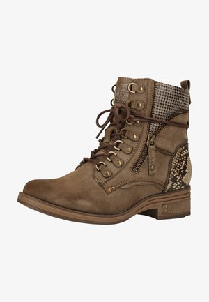 Lace-up ankle boots - taupe 318