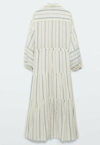 Massimo Dutti - STREIFEN - Maxi dress - white - 6