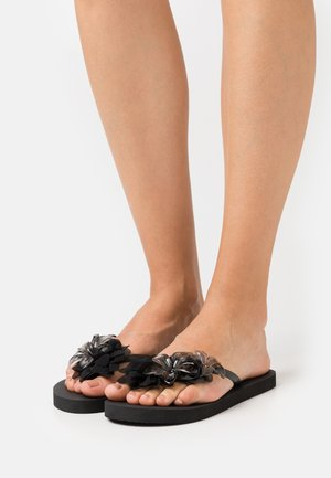 WITH FLOWER MIX - Pool shoes - black