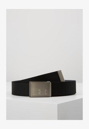 MENS WEBBING BELT - Pásek - black/pitch gray/silver