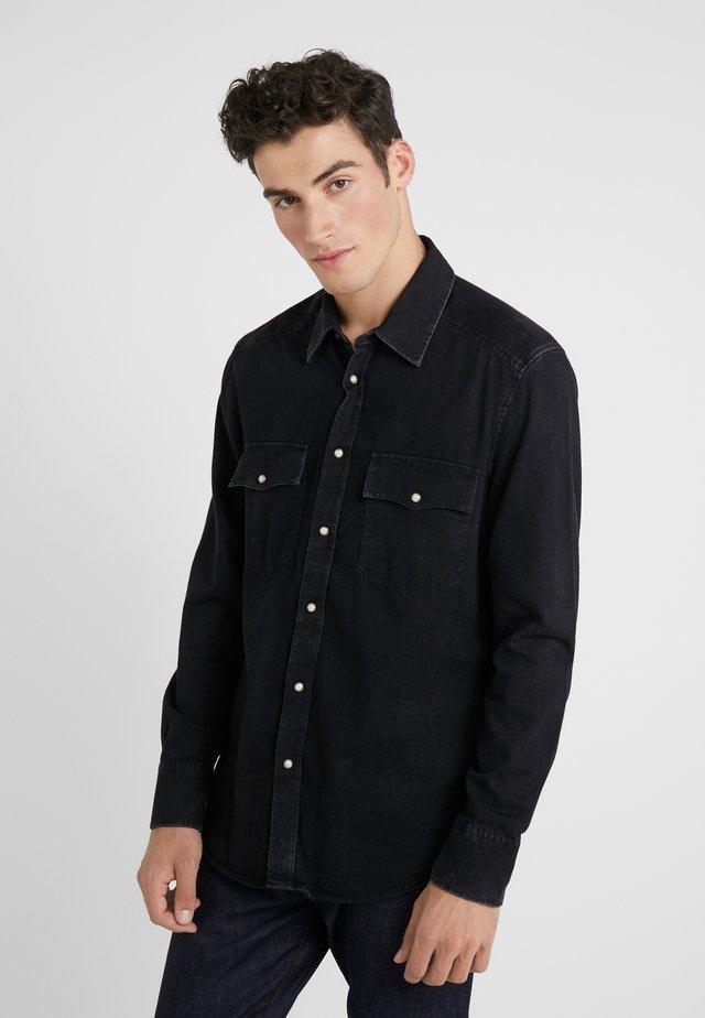 JURON - Hemd - black denim