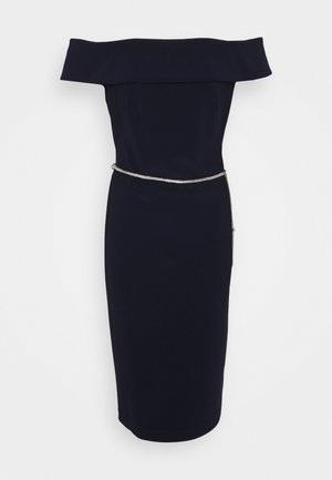 BONDED DRESS TRIM - Shift dress - lighthouse navy