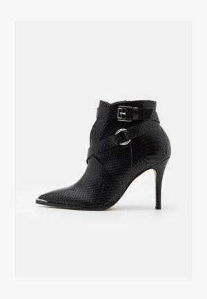 VOTELLA - Kotníková obuv na vysokém podpatku - noir