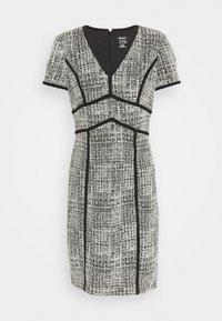 SHIFT WITH PIPING - Pouzdrové šaty - black/ivory