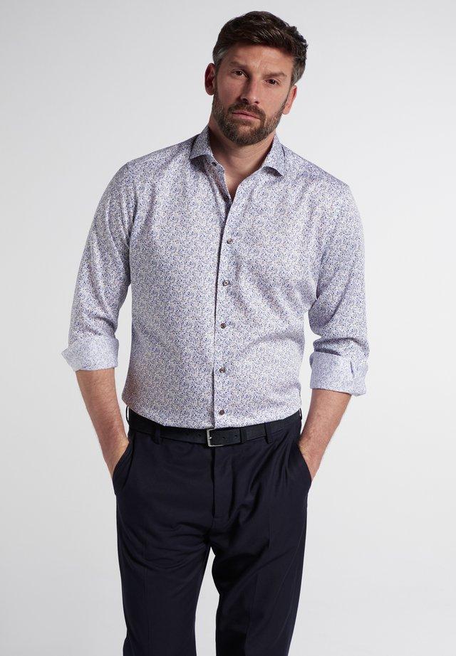 Skjorte - beige/blau
