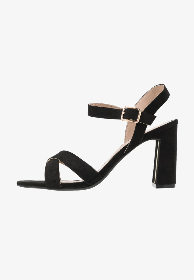 SELENA BLOCK  - High heeled sandals - black