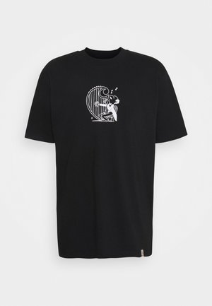 HARP - Print T-shirt - black/white