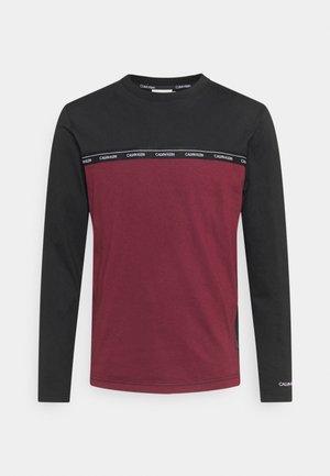 LOGO STRIPE LONG SLEEVE - Maglietta a manica lunga - tawny port/black