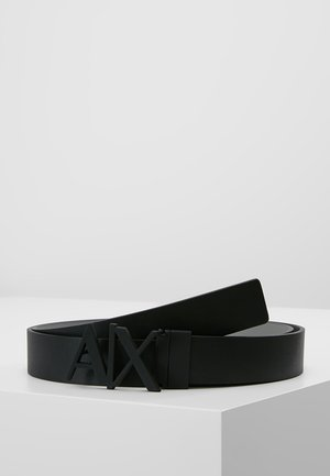 BELT - Bælter - black/silver