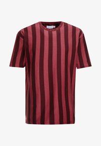 Topman - T-shirt med print - bordeaux - 3