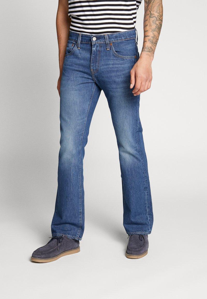 Levi's® - 527™ SLIM - Džíny Bootcut - dark-blue denim
