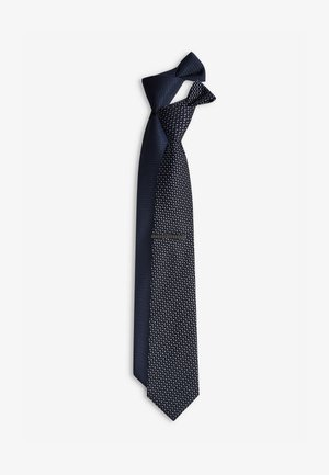 TEXTURED TIES 2 PACK WITH TIE CLIP - Krawat - mottled blue